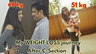 Cesarean Delivery ke bad Belly Fat kaise kam kare | Weight loss Tips after c-section Delivery