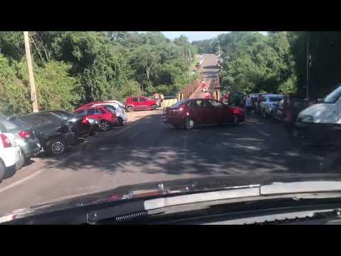 Movimento grande de veículos neste domingo no Rio Cadeia, entre Hortêncio e Lucena