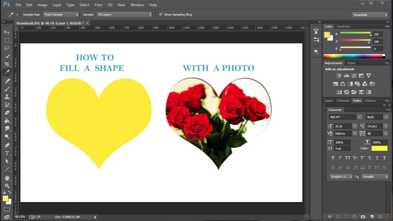 How to Fill a Shape with a Photo in Adobe Photoshop