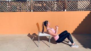 Ягодичный мостик на стуле: как накачать ягодицы дома