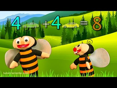 Aprender a sumar es facil del 0 al 4 con Las Abejitas Sumadoras - Educación para niños