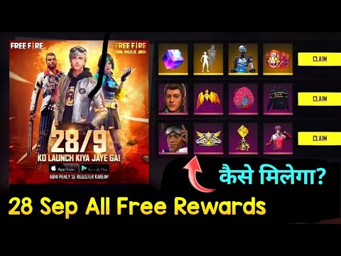 Free Fire New Event Calendar | 28 September All Free Rewards | New Free Character And Gun Skin