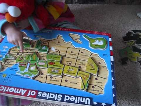 Naomi Learns 50 States at Age 2 - YouTube
