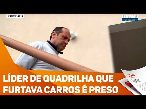 Líder de quadrilha que furtava carros é preso - TV SOROCABA/SBT