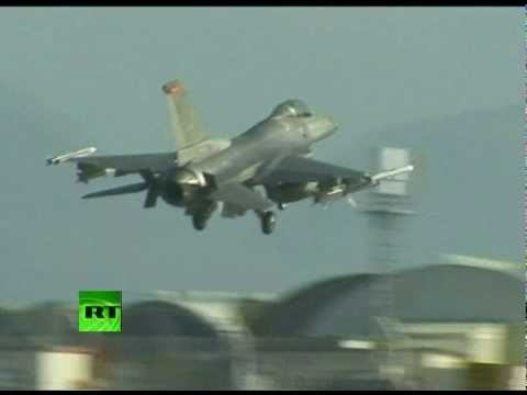 Mission Libya: Video of F16 fighters & A10 tank busters at US base in Italy