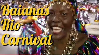 2016 BRAZIL CARNIVAL BAIANAS DANCE: ELDERS AT RIO CARNIVAL PARADE