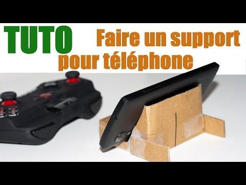 Tuto : Faire un support en carton (gratuit) pour téléphone