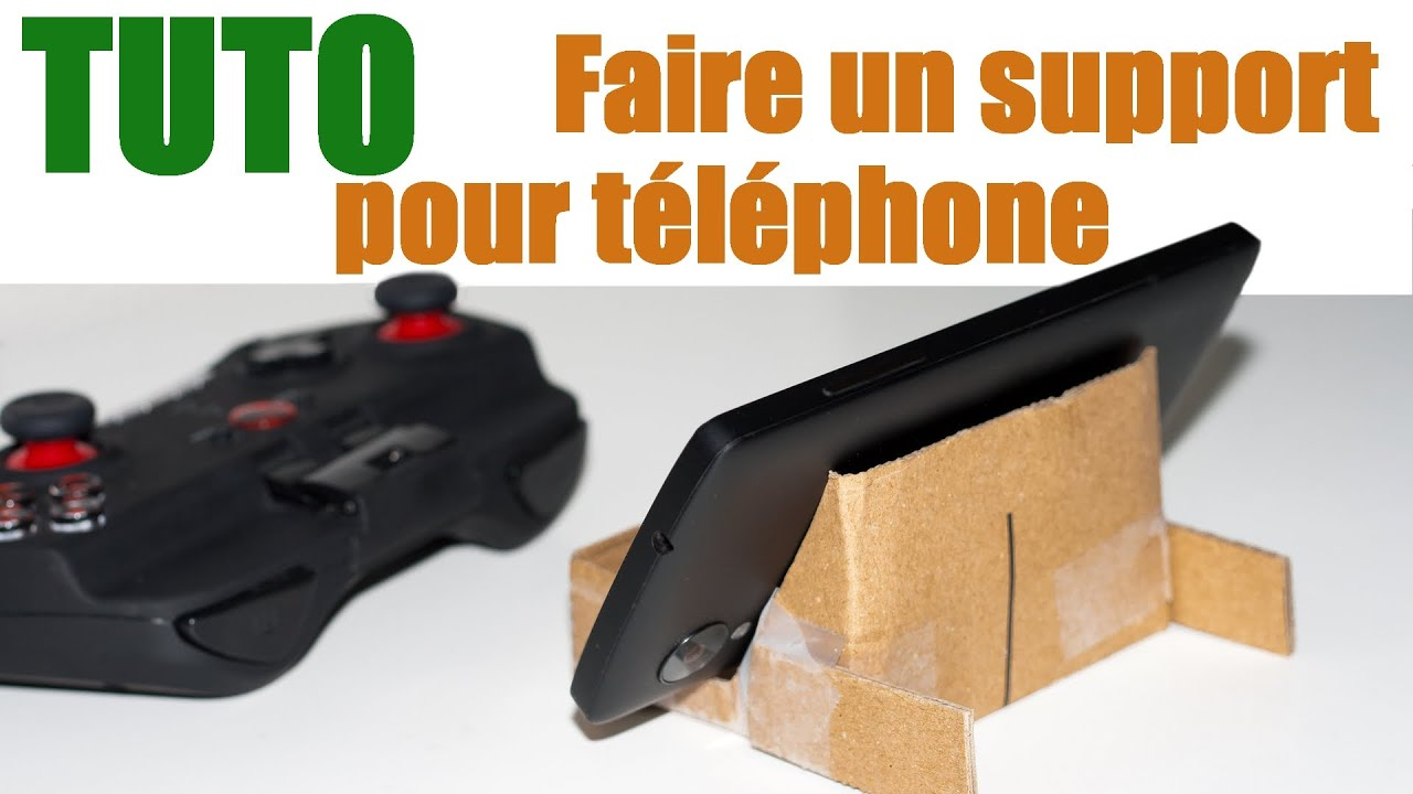 Tuto faire un support en carton gratuit pour t l phone - Support pour photo original ...