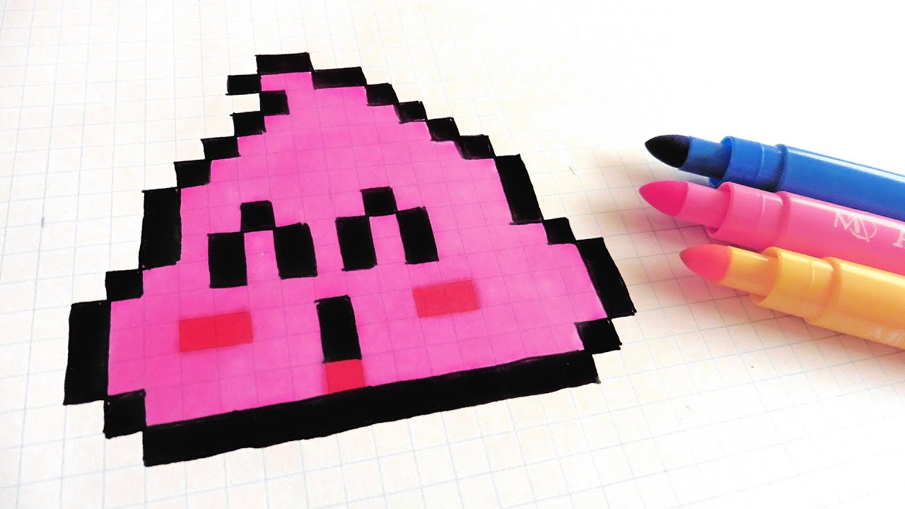 Handmade Pixel Art How To Draw Pink Poop Dr Slump Pixelart