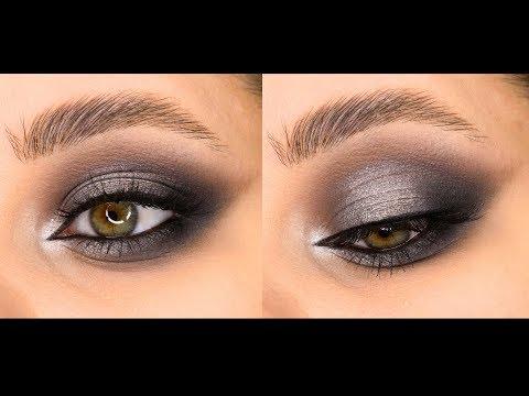 Серый смоки с пигментами и палеткой Viseart. Вечерний макияж.