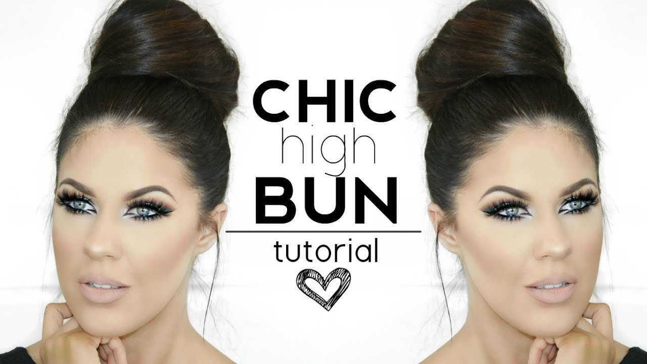 CHIC HIGH BUN HAIRSTYLE | QUICK & EASY!! - YouTube