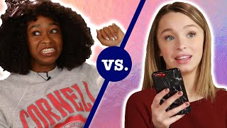 Teens Vs. Adults: Who\'s the Worst Texter? Ft. Taylor & Reese Hatala • Ladylike
