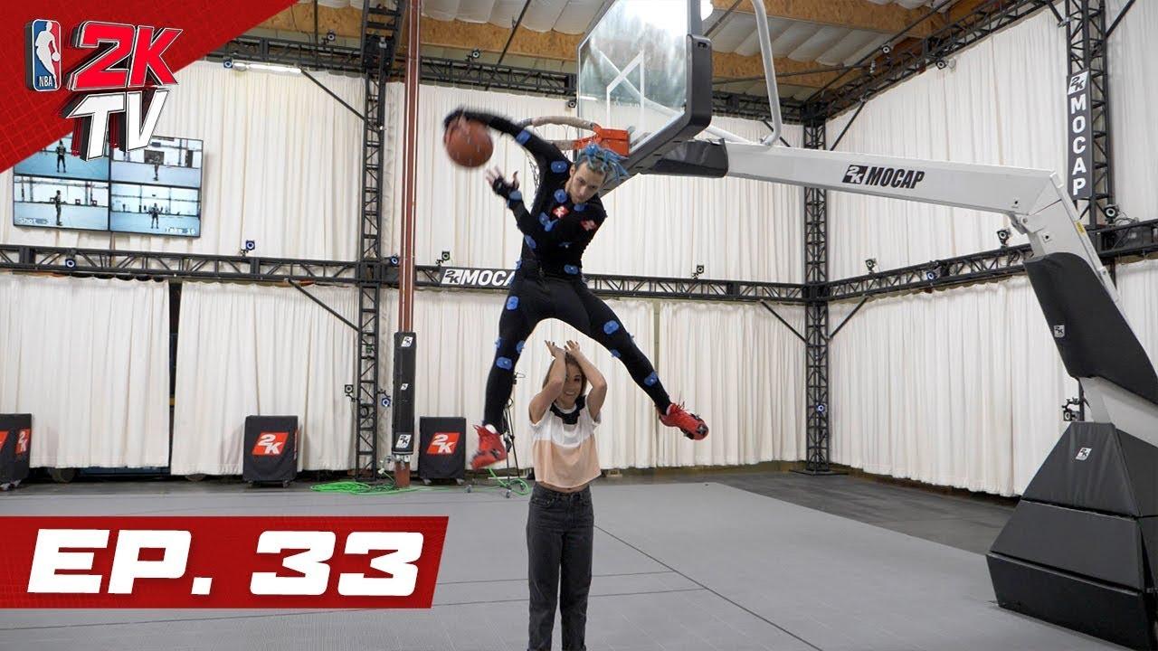Jordan Kilganon rocks the rim at 2K Mocap - NBA 2KTV S4. Ep.33