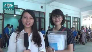 [Tuyển sinh Học viện Tài chính 2016] Ngày đầu tiên làm thủ tục nhập học của sinh viên CQ54