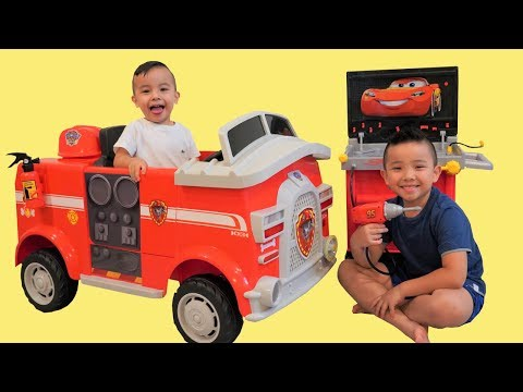 PAW Patrol FIRE TRUCK Surprise Unboxing Pretend Play With CKN Toys