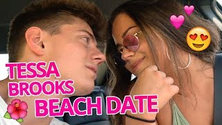 Tessa Brooks + Chance Vlog Romantic Beach Day