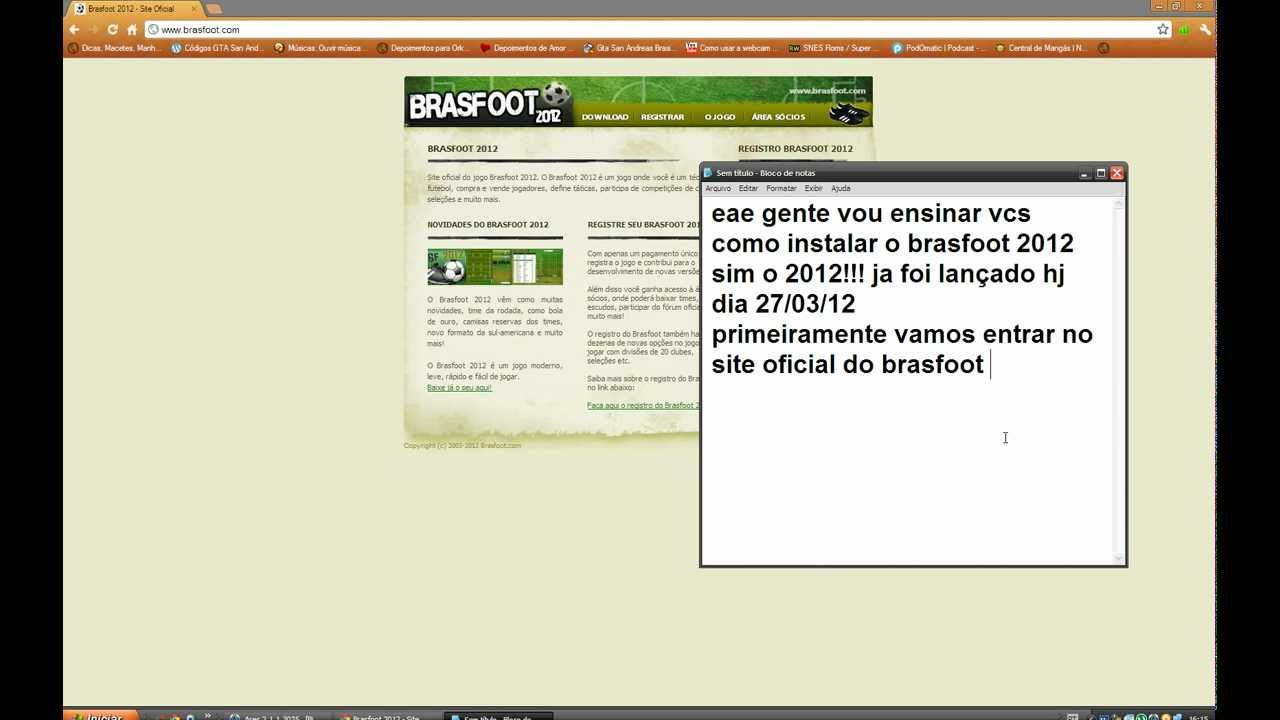 brasfoot 2012 com registro
