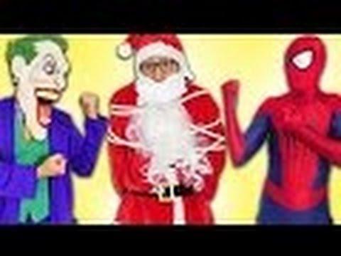 Superhero Christmas w/ Frozen Elsa, Spiderbaby, Snow White, Cat baby