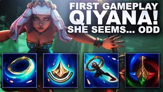 FIRST GAMEPLAY QIYANA! SHE SEEMS... ODD | League of Legends