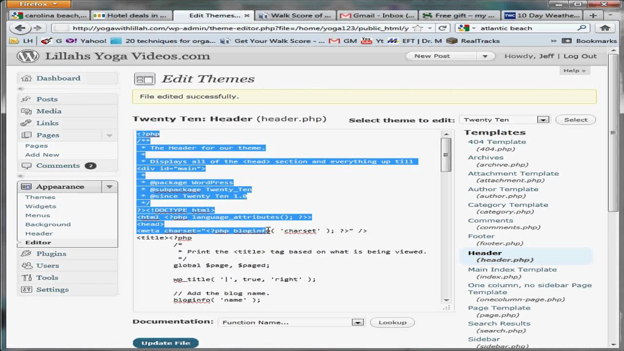 How to edit php css and html in wordpress youtube for How to edit wordpress templates