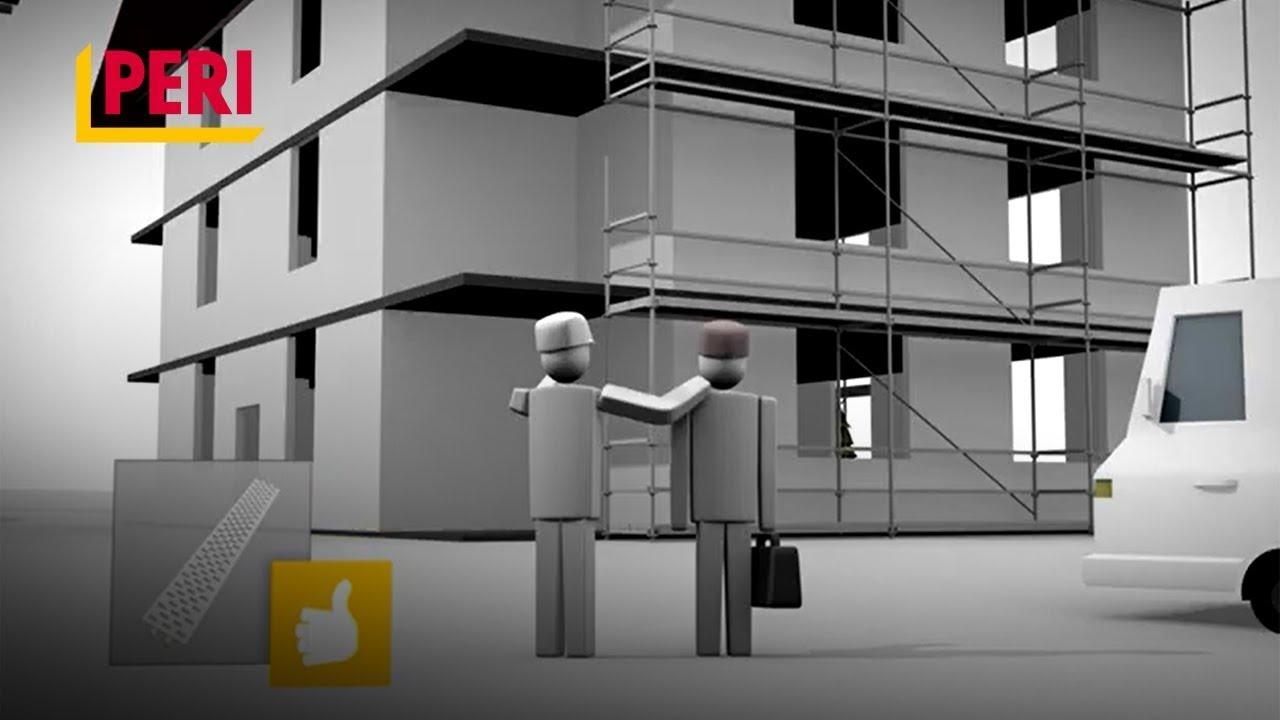 PERI UP Easy Facade Scaffolding Animation