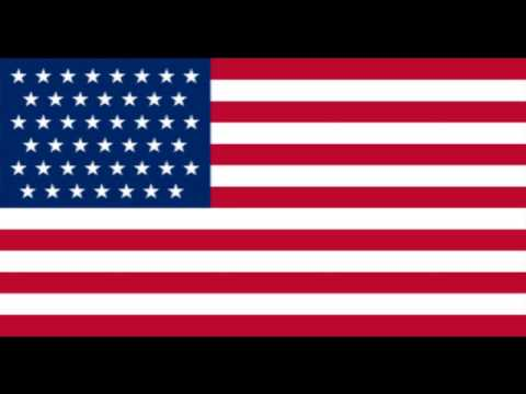 United States of America Flag Transitions over the Years