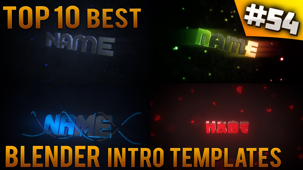 TOP 10 BEST Blender Intro Templates 54 Free Download