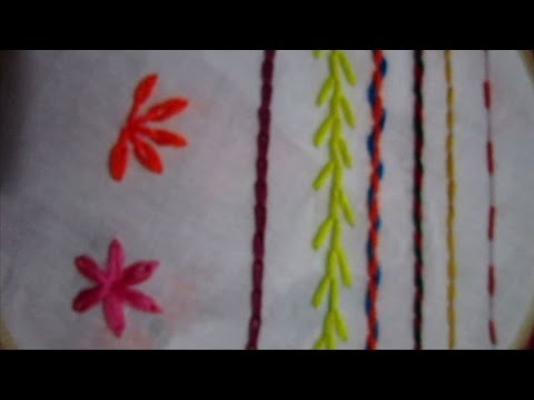 8 Basic Embroidery Stitches Embroidery Stitch For Beginners Youtube
