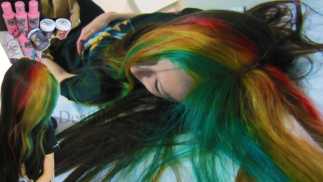 Watch - Blue blonde and green hair photo video