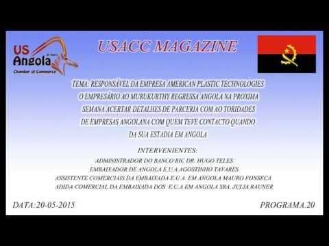 RESPONSÁVEL DA EMPRESA AMERICAN PLASTIC TECHNOLOGIES O EMPRESÁRIO AO MURUKURTHY REGRESSA    ANGOLA