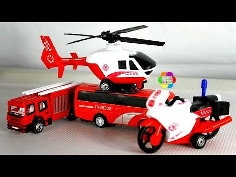 لعبة المطافى الجديدة وسيارات الاطفاء اجمل العاب الشاحنات للبنات والاولاد New Firefighting Toys