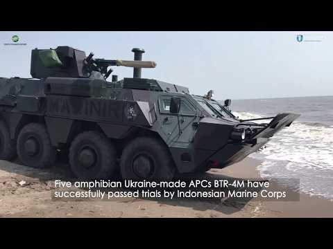 Indonesian Marine Corps staged military training exercises with BTR-4M_SpetsTechnoExport