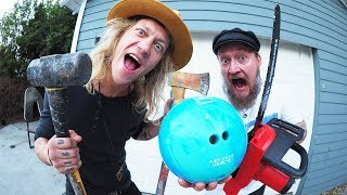 Trying to Smash a Bowling Ball!
