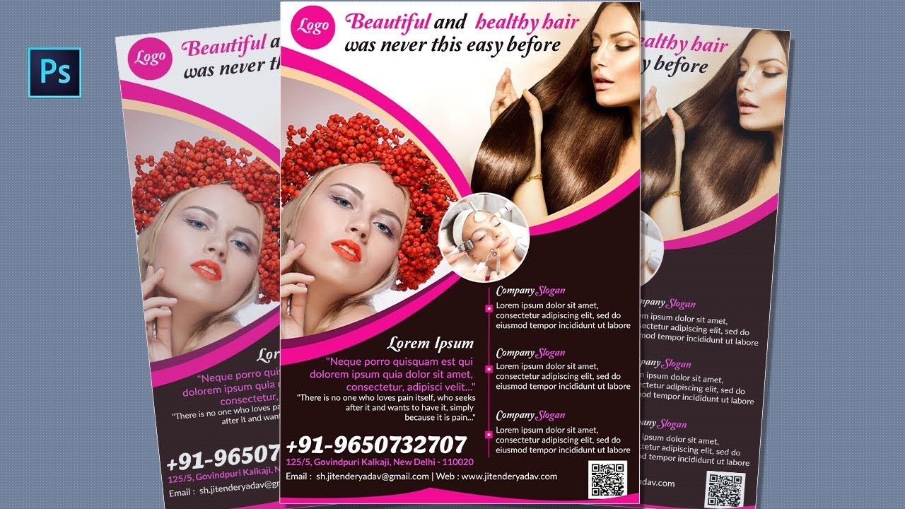 Flyer design in photoshop cs6 beauty salon spa flyer design flyer design in photoshop cs6 beauty salon spa flyer design tutorial modern flyer design baditri Choice Image