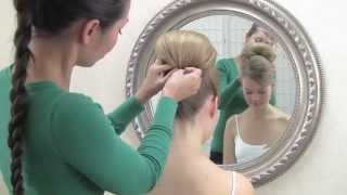 wedding hairstyling video - tunnel pinning
