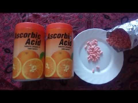Мощный антиоксидант и природный энергетик витамин С Patar Ascorbic Acid Vitamin C, 1000 табл.