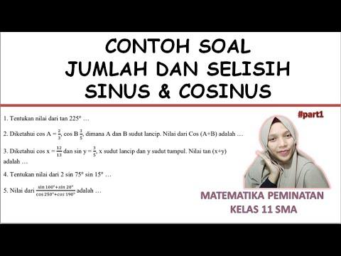 Contoh Soal Trigonometri Perkalian Dan Penjumlahan Selisih Sinus Dan Kosinus Youtube