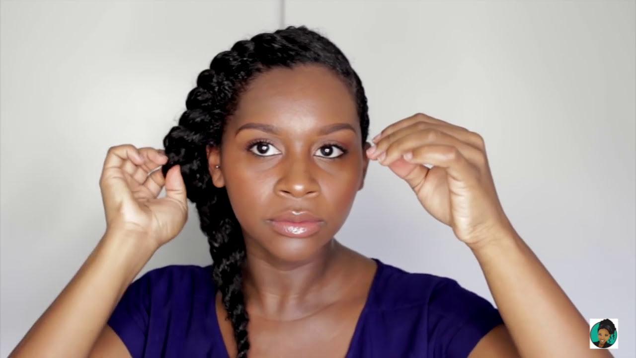 Protective Styling The Jumbo Flat Twist Youtube