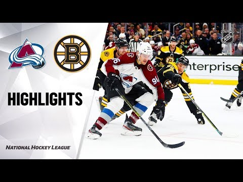 NHL Highlights   Avalanche @ Bruins 12/07/19
