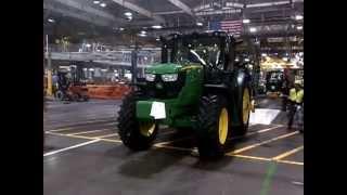 John Deere Gold Key factory tour , Waterloo Iowa - 6150R tractor November 2012