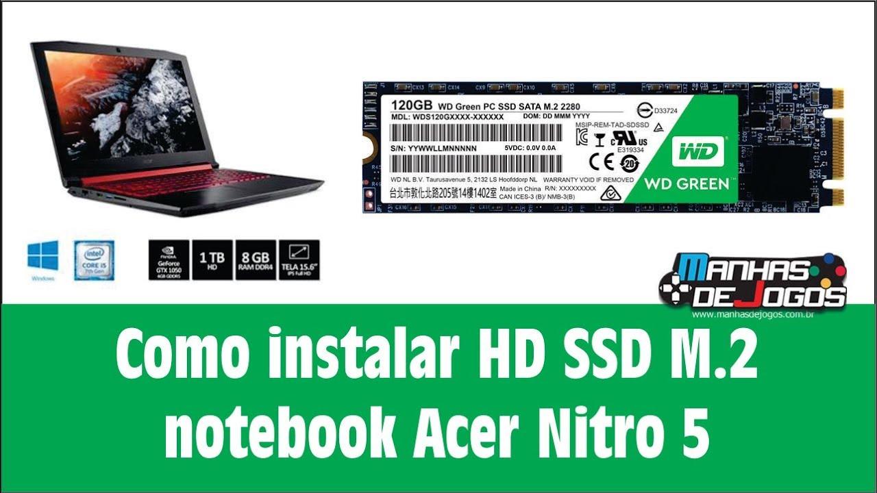 Como instalar HD SSD M 2 Notebook Acer Nitro 5