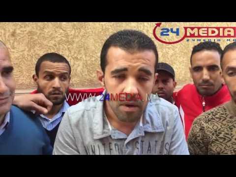مطرودون من شركة النظافة كازاتيكنيك يعتصمون أمام مقر رئاسة المجلس البلدي لسيدي سليمان thumbnail