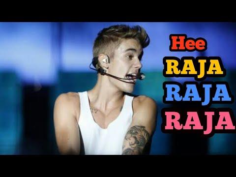 Justin Bieber Singing Raja Raja Raja Koreja Me Samaja  F F  A F F  A F F  A