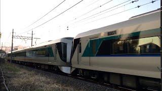 東武500系 511F+510F 特急リバティーりょうもう44号 浅草行き 桐生線走行 相老–新桐生