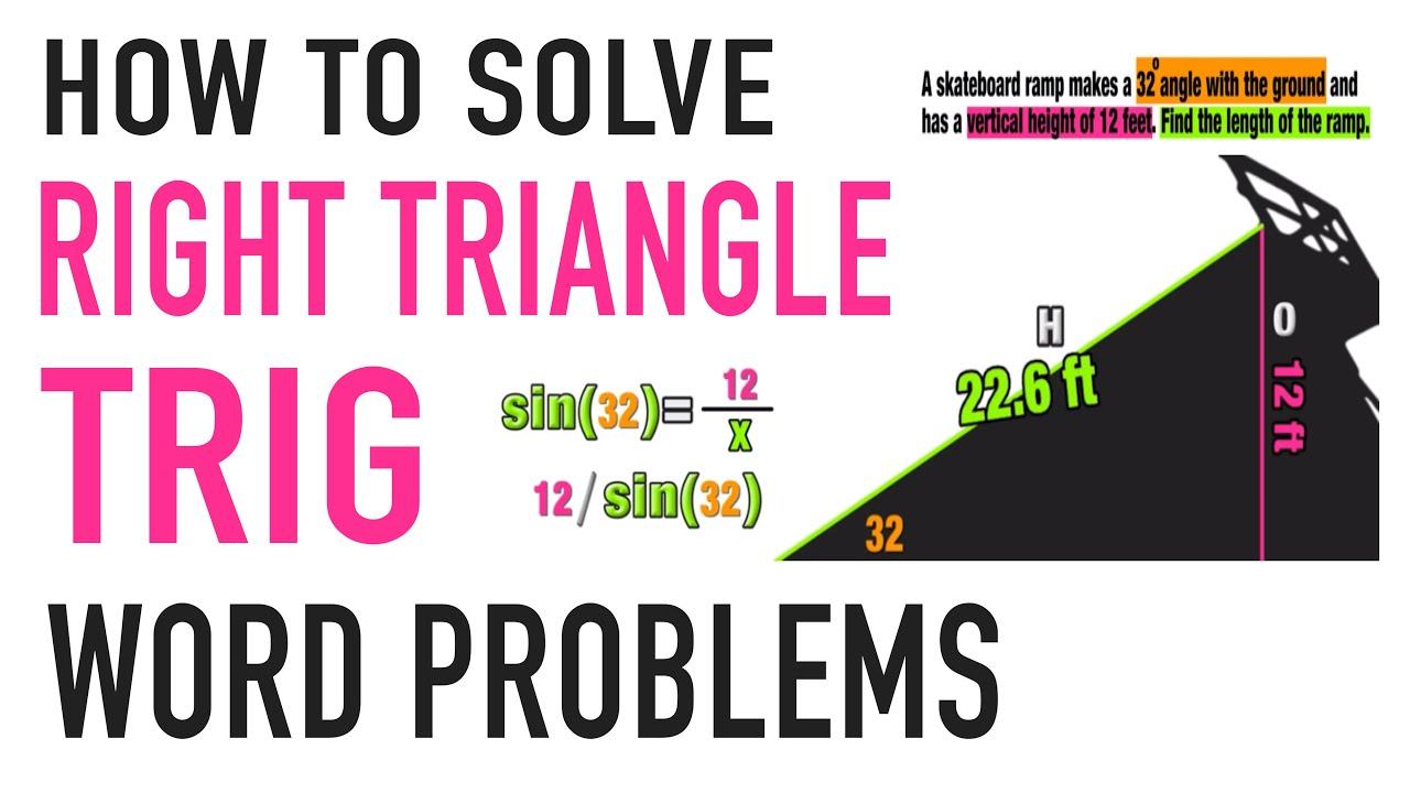 Trigonometry Word Problems Practice Youtube