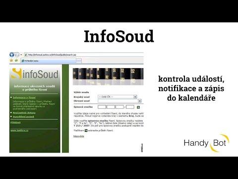 InfoSoud - kontrola událostí, notifikace a zápis do kalendáře