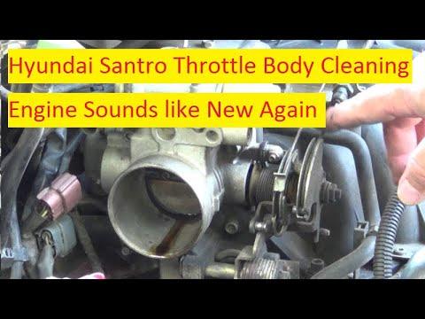 Hyundai Santro Throttle Body Cleaning !!!!