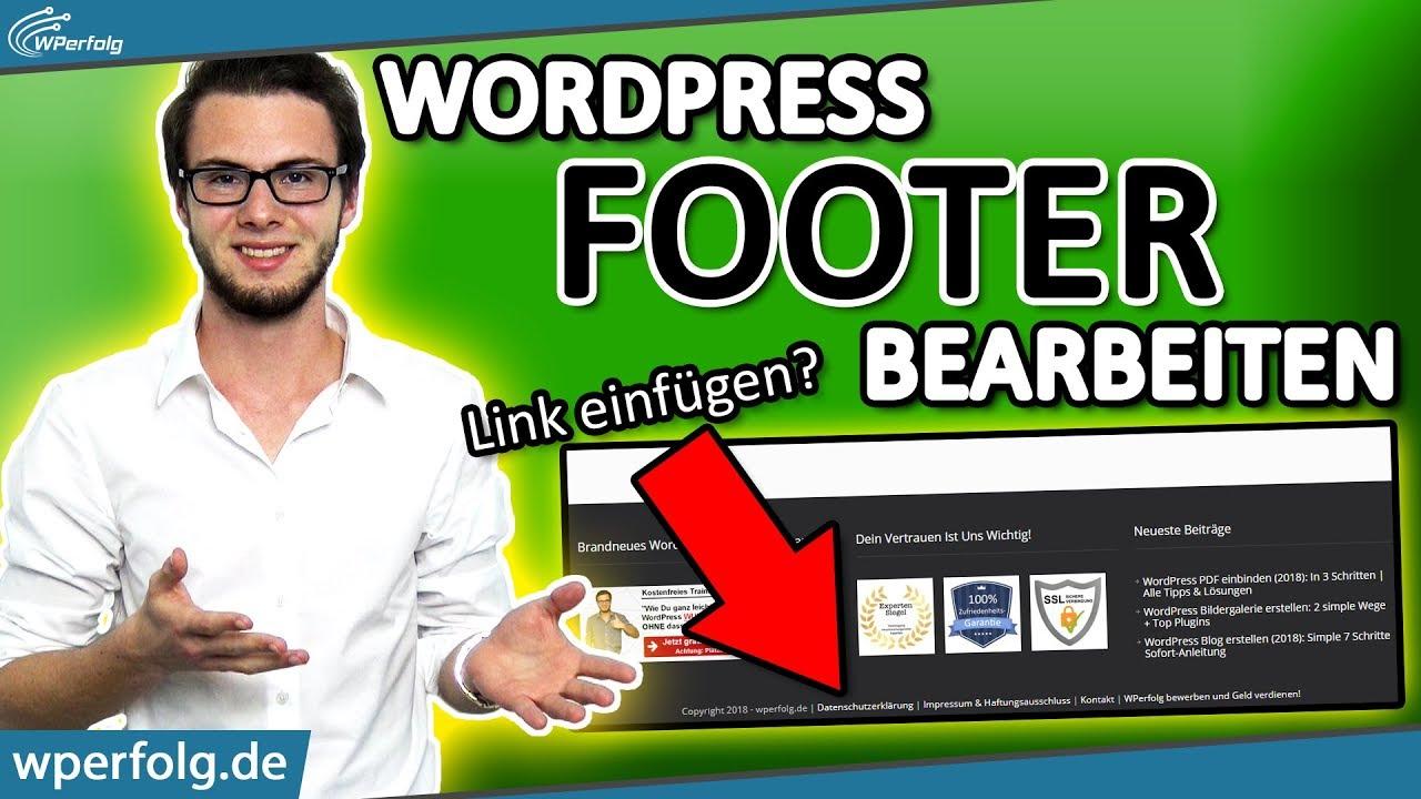 WordPress Footer Bearbeiten: (Impressum) Footer Link in ...
