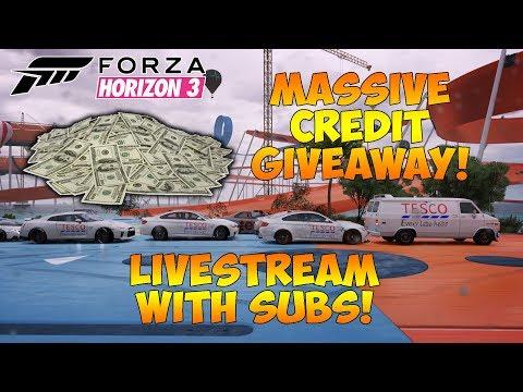 Forza Horizon 3 - MASSIVE CREDIT GIVEAWAY LIVESTREAM! WIN CREDITS! COME JOIN