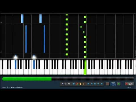 "Fly - Ludovico Einaudi ""Intouchables"" Piano Tutorial By PlutaX Synthesia"